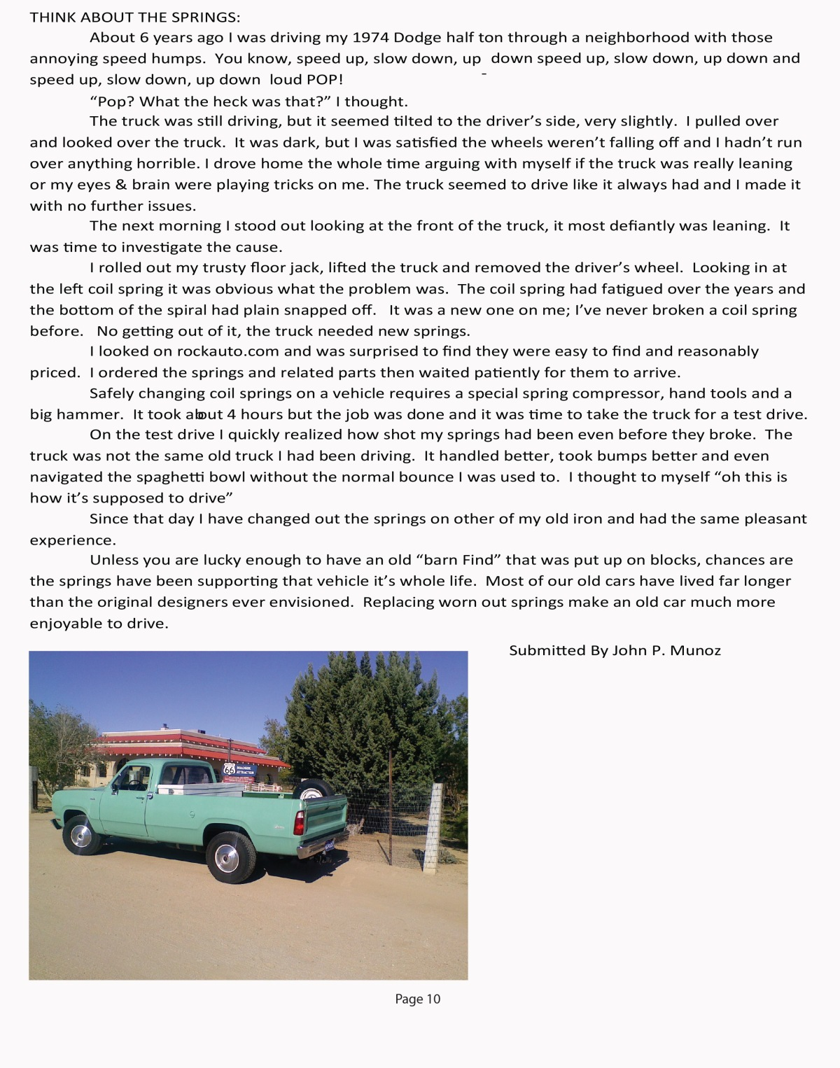 Car Story - dodge truck