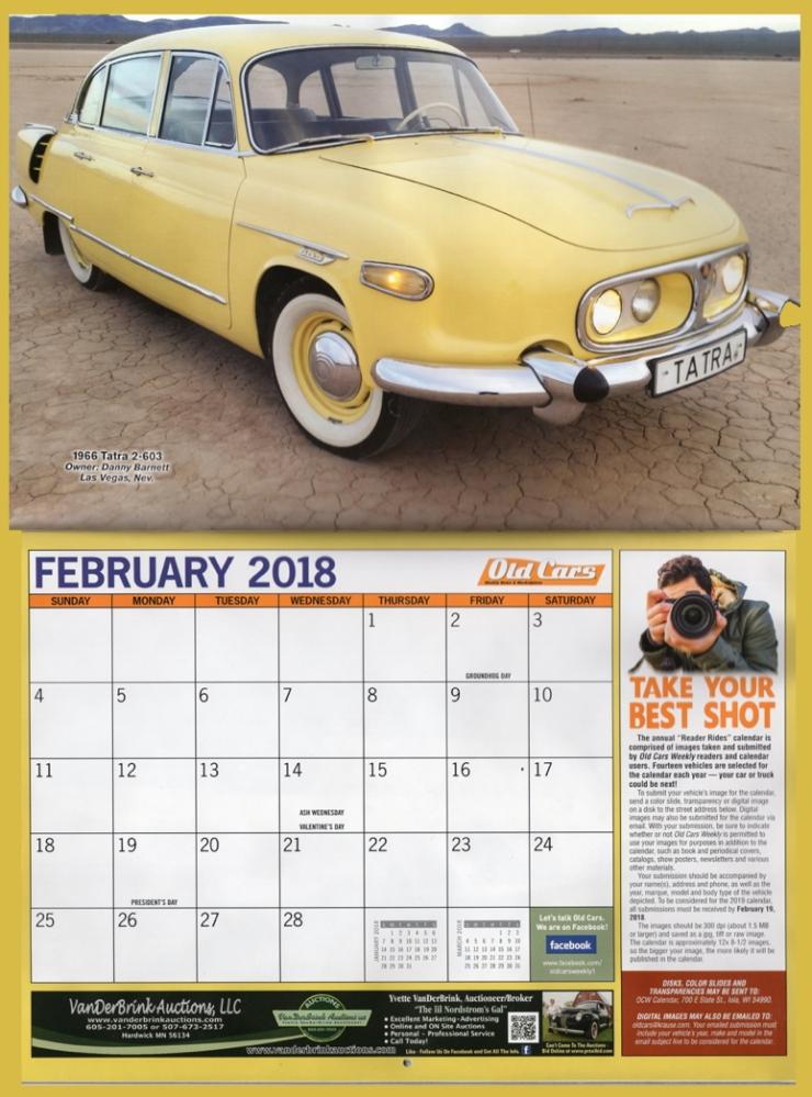 Dannys Tatra calendar